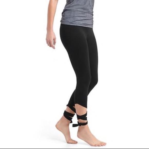 8f21fb0993856 GAP Pants   Fit Barre Strap Tie Leggings   Poshmark